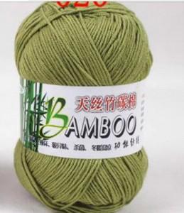 army-green-color-knitted-threads-bamboo-yarn-bamboo-fiber-cotton-yarn-50g-roll-500g-lot-summer