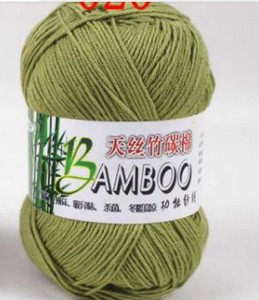 army-green-color-knitted-threads-bamboo-yarn-bamboo-fiber-cotton-yarn-50g-roll-500g-lot-summer