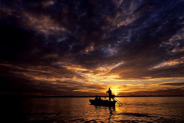 Sunrise on the Mekong Delta. Chris Guy.
