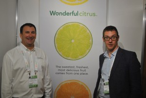 Wonderful Citrus export sales manager Dan Kass (left) and European sales manager Tom Robyn